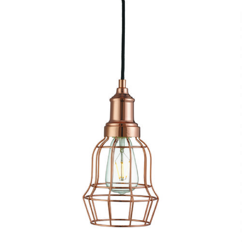Bell Cage 1 Light Copper Cage Pendant (Class 2 Double Insulated) Bx6847Cu-17